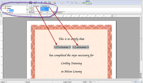OpenOfficeorg Training Tips And Ideas Printing A Group Of - Birthday invitation on mail