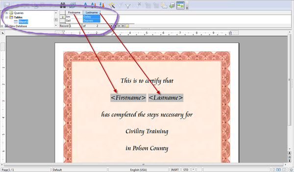 Openoffice training tips and ideas printing a group of openoffice training tips and ideas printing a group of certificates using mail merge draw and writer yelopaper Image collections