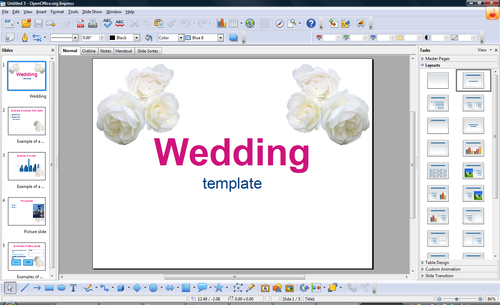 openoffice training, tips, and ideas: templates, Presentation templates